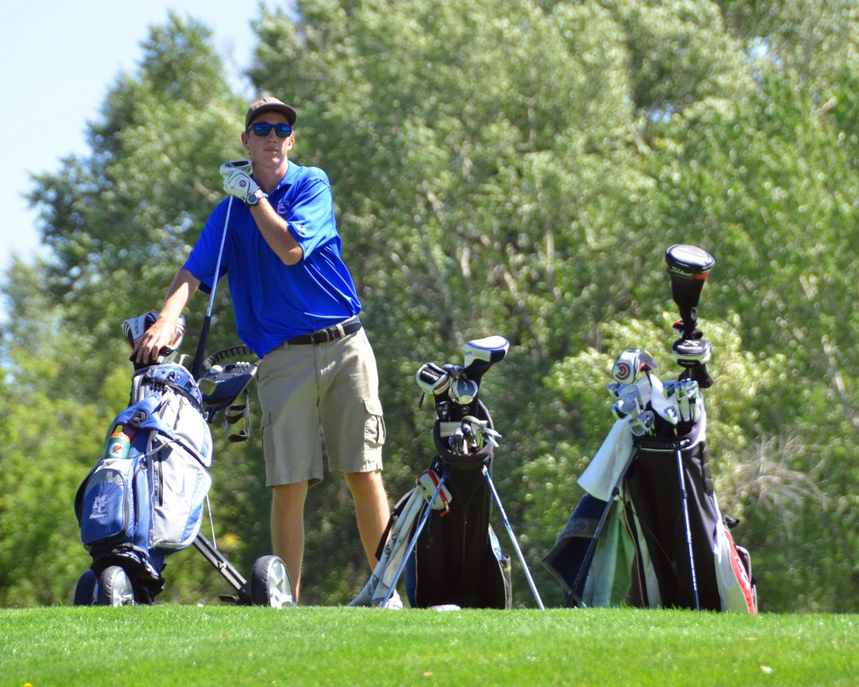 """Moffat County High School senior Chris Kling has been involved in varsity golf and swimming while at MCHS and is one of the nominees for the Lewis """"Dude"""" Dent Memorial Award."""