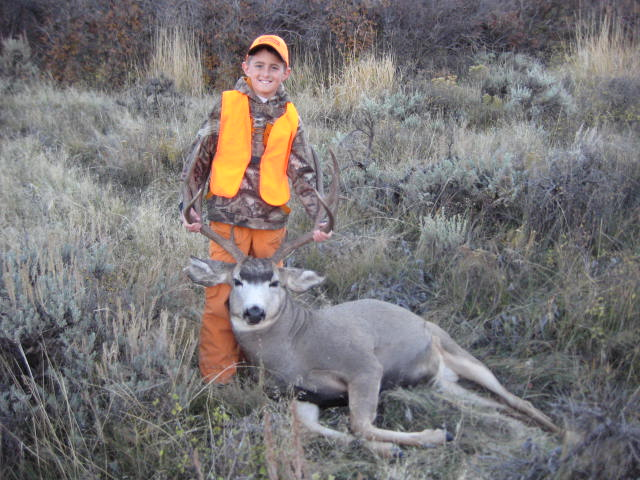 Craig resident, Blake Juergens, 12, made an awesome shot taking down his first 6x6 buck deer.