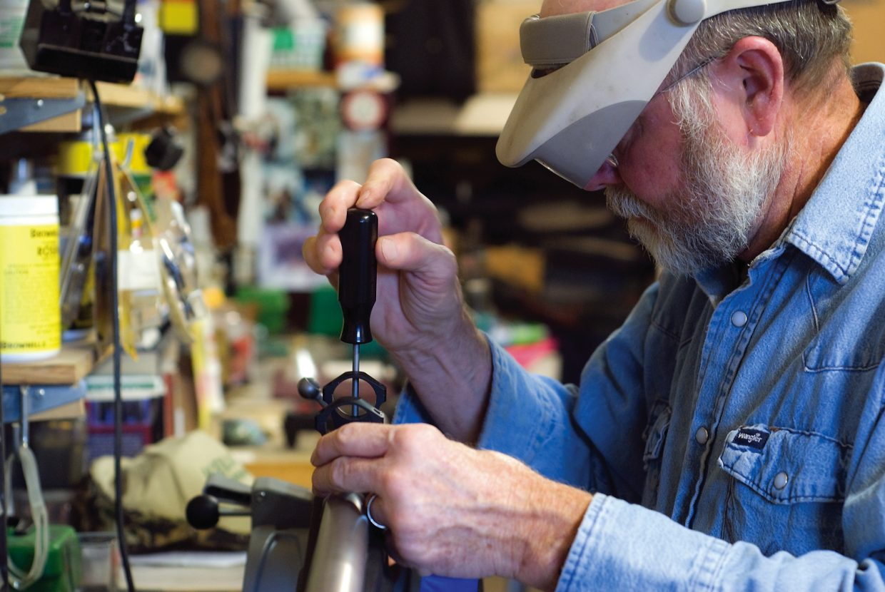 Kelley has been working on and making guns for 10 years. He said much of his business involves muzzle breaks and recoil pads.