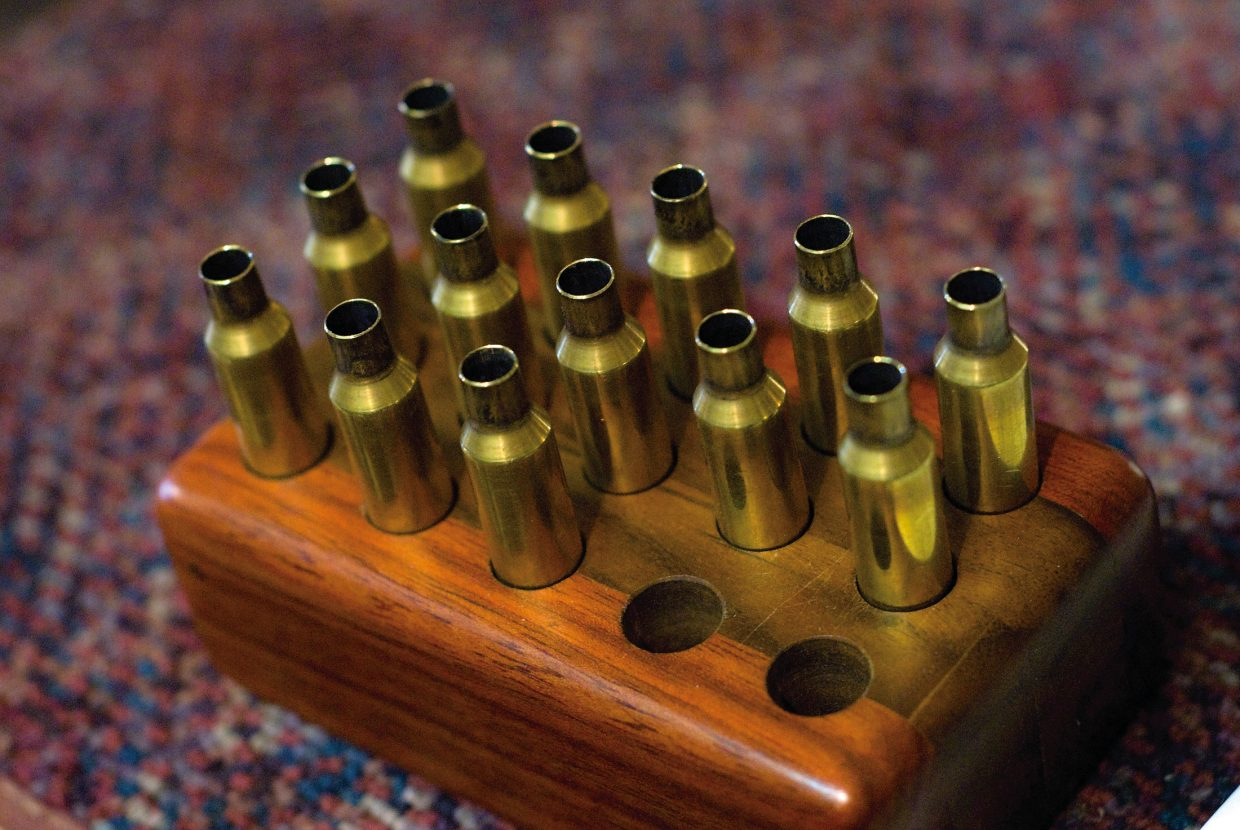 Another large portion of his business is a lot of reloading, making and refilling bullets.