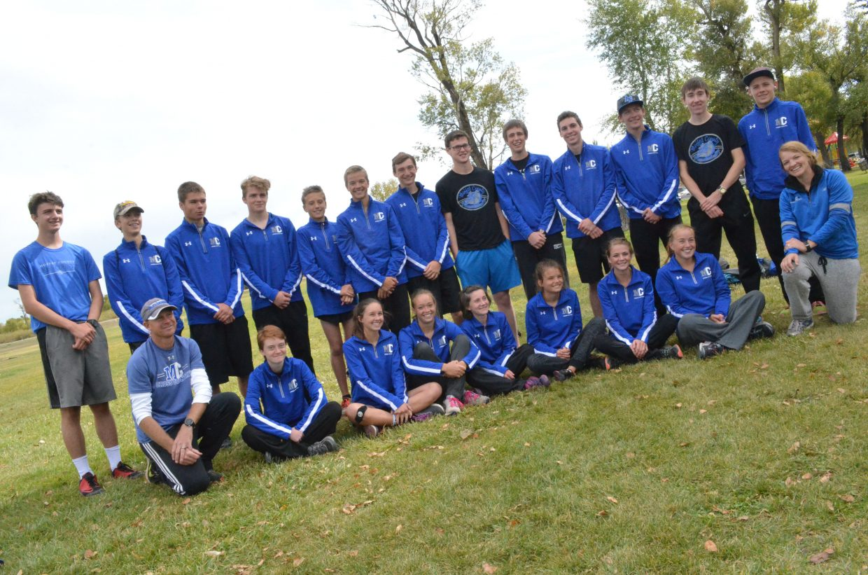 Moffat County High School cross country won first among boys teams and second among girls in 2017's Bulldog Invitational.