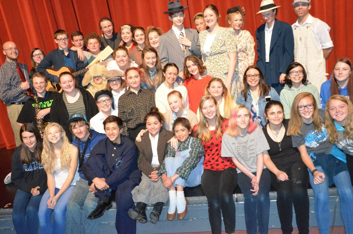 The cast, crew and musicians of