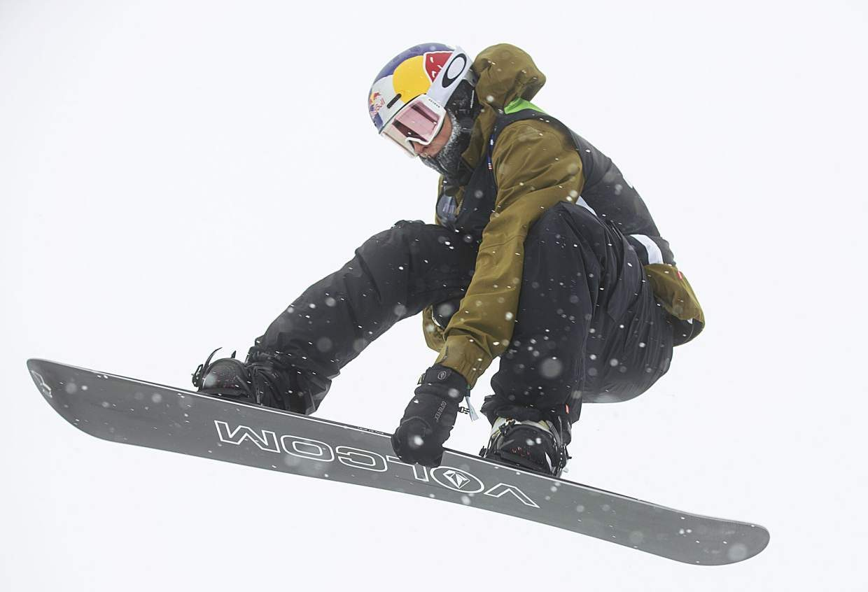Scotty James of Australia competes in the snowboard superpipe qualifiers during the Dew Tour event Thursday, Dec. 14, at Breckenridge Ski Resort. James qualified for Friday's final with a score of 76.33.