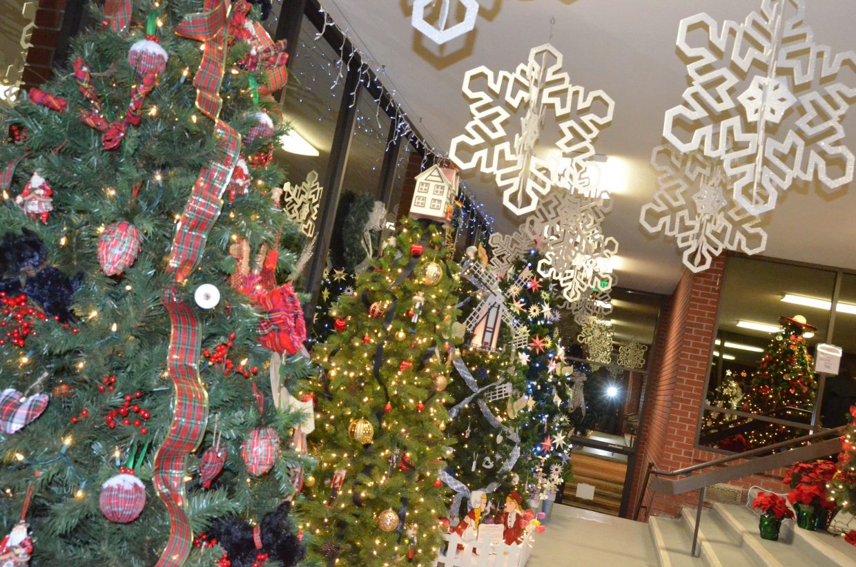 A variety of internationally inspired holiday decorations are part of the