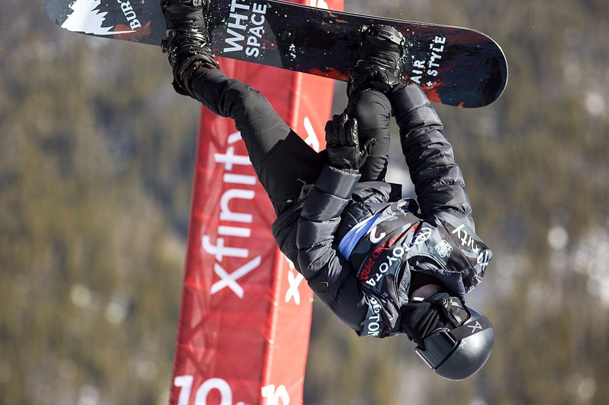 Shaun White of United States competes in the halfpipe finals during the U.S. Grand Prix event Saturday, Dec. 9, at Copper Mountain. White took home third with a high score of 89.25.