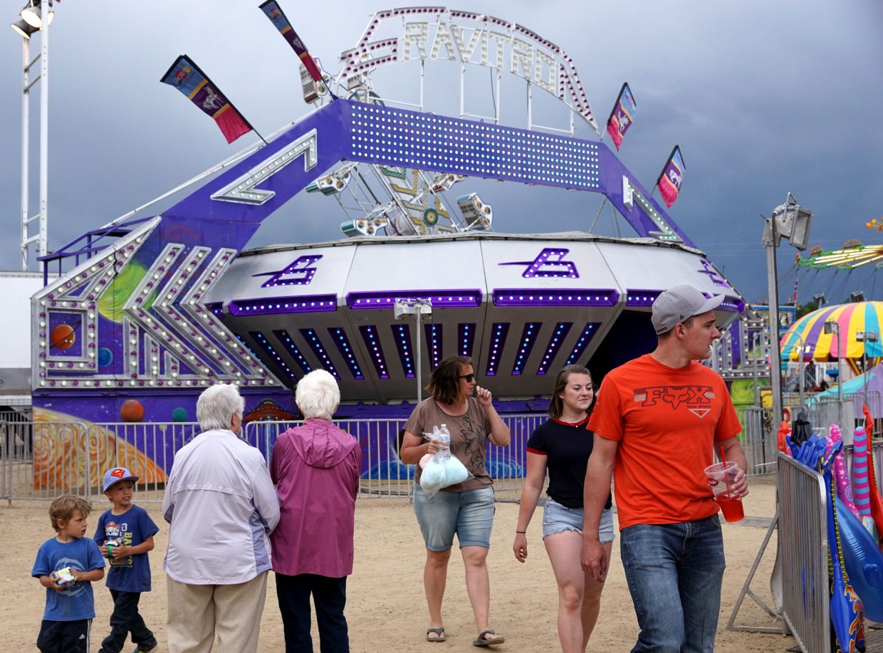 People of all ages were out to enjoy the carnival, which included popular attractions such as the Gravitron.