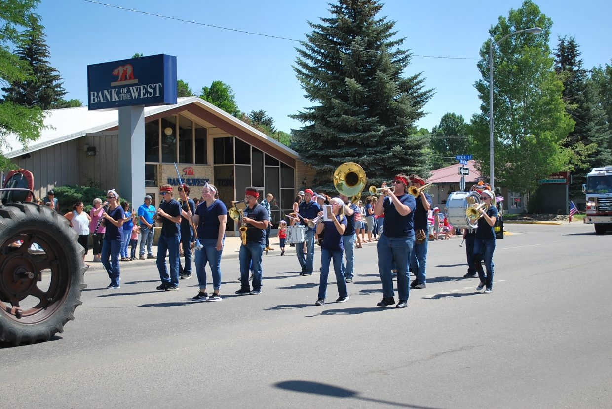 The Craig High School marching band played Michael Jackson's