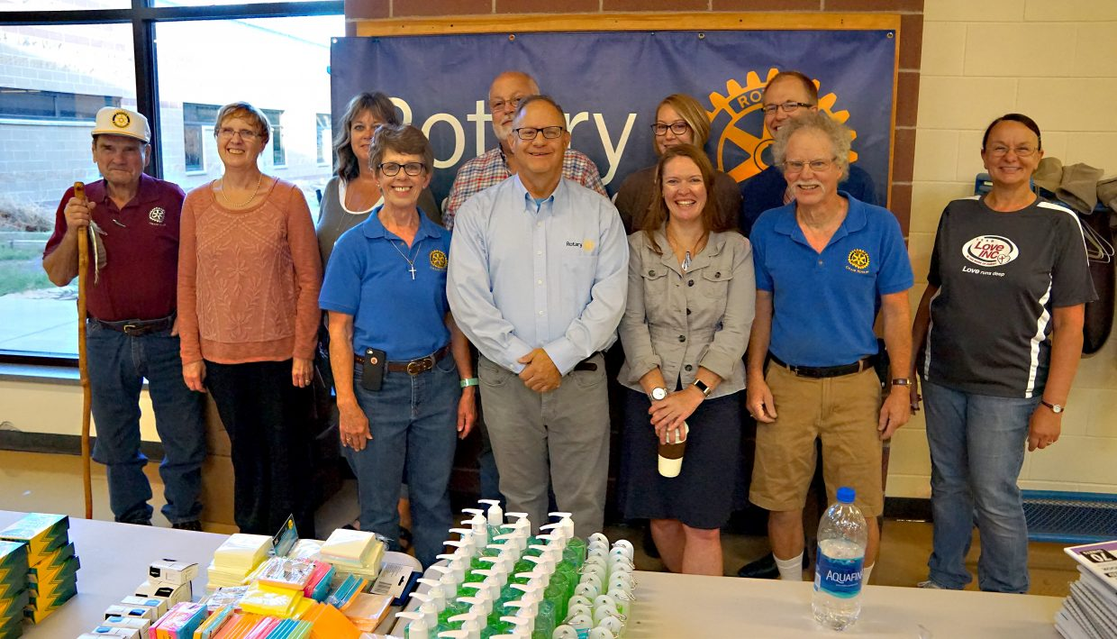 About $3,000 of school supplies were provided free to Moffat County teachers for the eighth consecutive year by Craig Rotary Club and Love INC.
