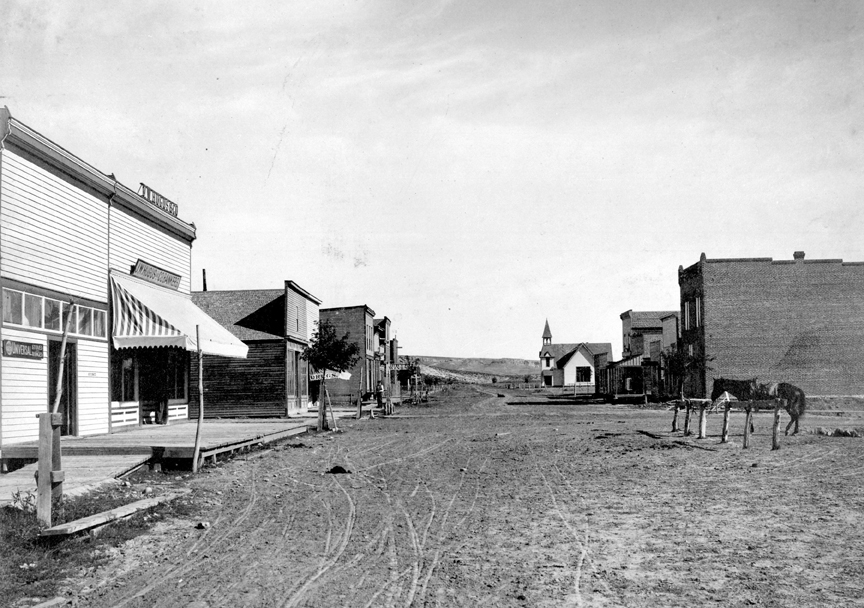 A north view of Yampa Avenue on a September morning in 1895.