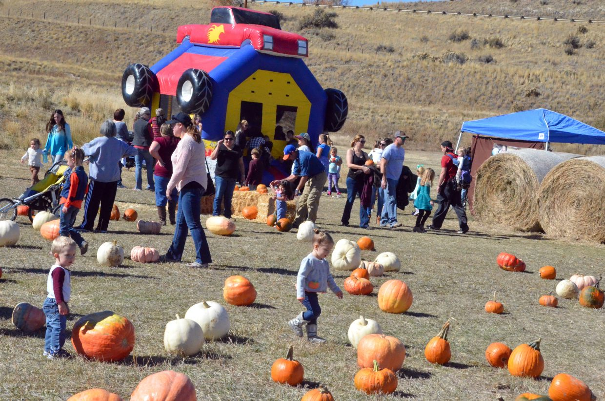 Multiple family activities were part of Saturday's pumpkin patch at Wyman Living History Museum.