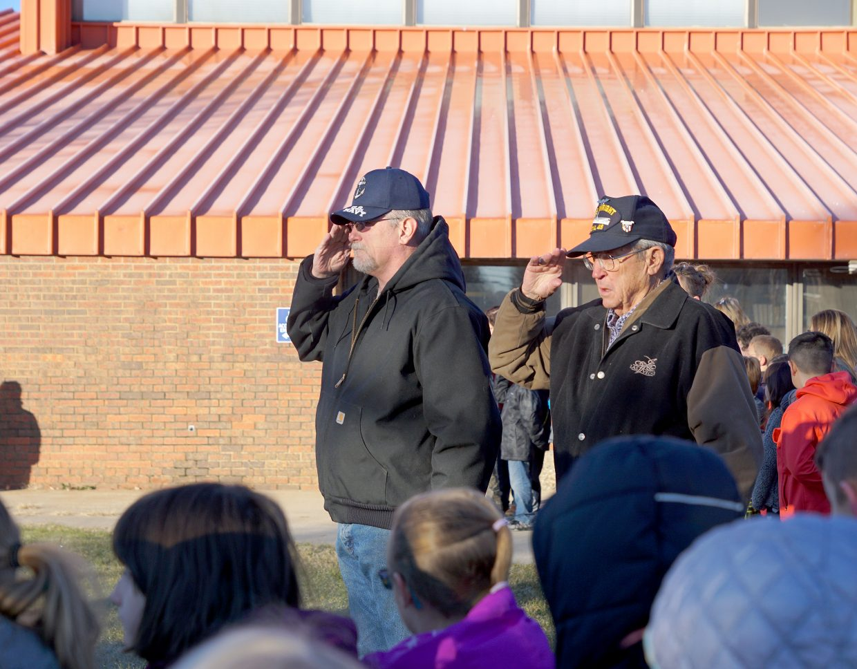 Veterans from most branches of military service were represented and saluted the flag.