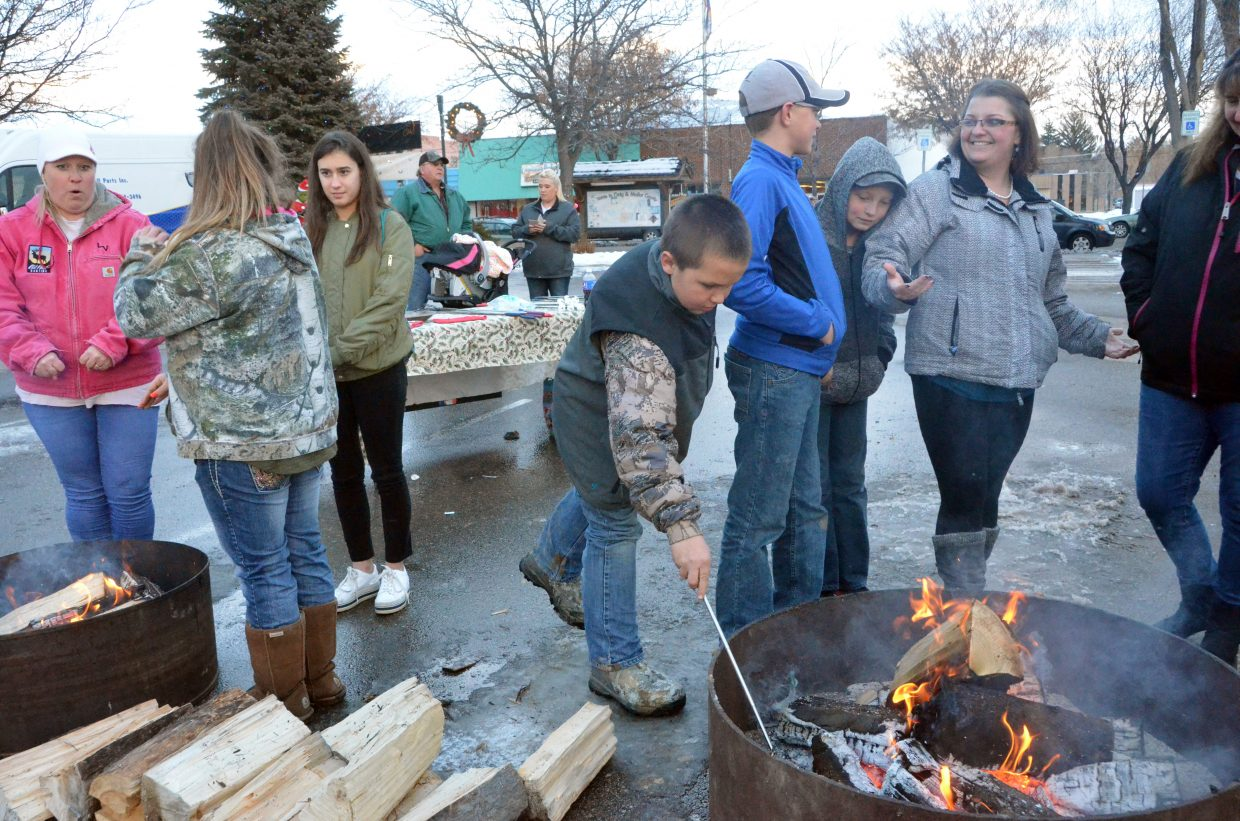 An open flame is perfect for roasting marshmallows and more during Down Home Christmas Saturday in Alice Pleasant Park.