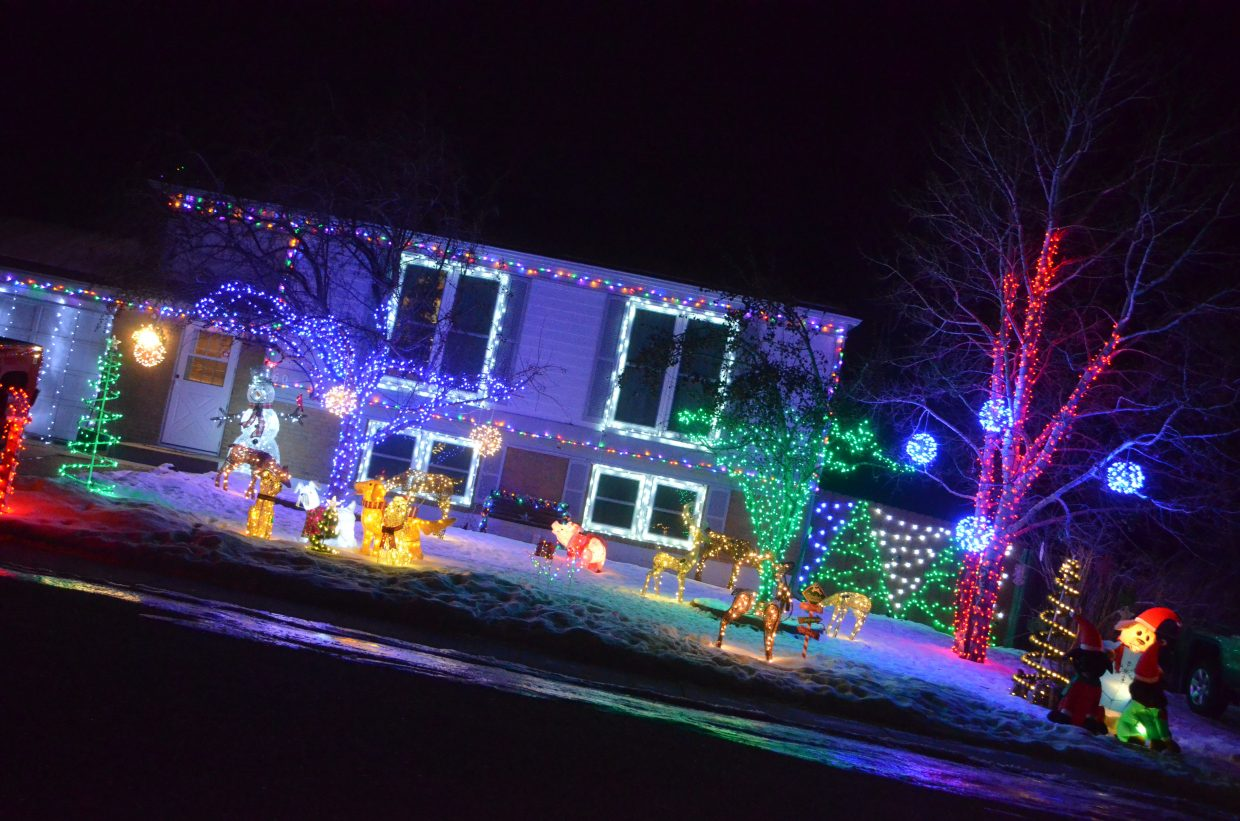 The Brown home at 760 Riford Road in the 2018 Holiday Tour of Lights.
