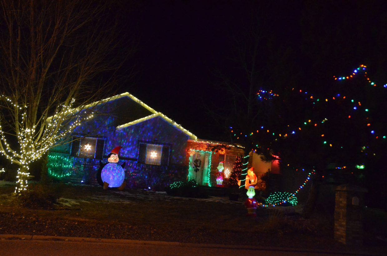 The Lyons home at 1177 Schrader Ave. in the 2018 Holiday Tour of Lights.