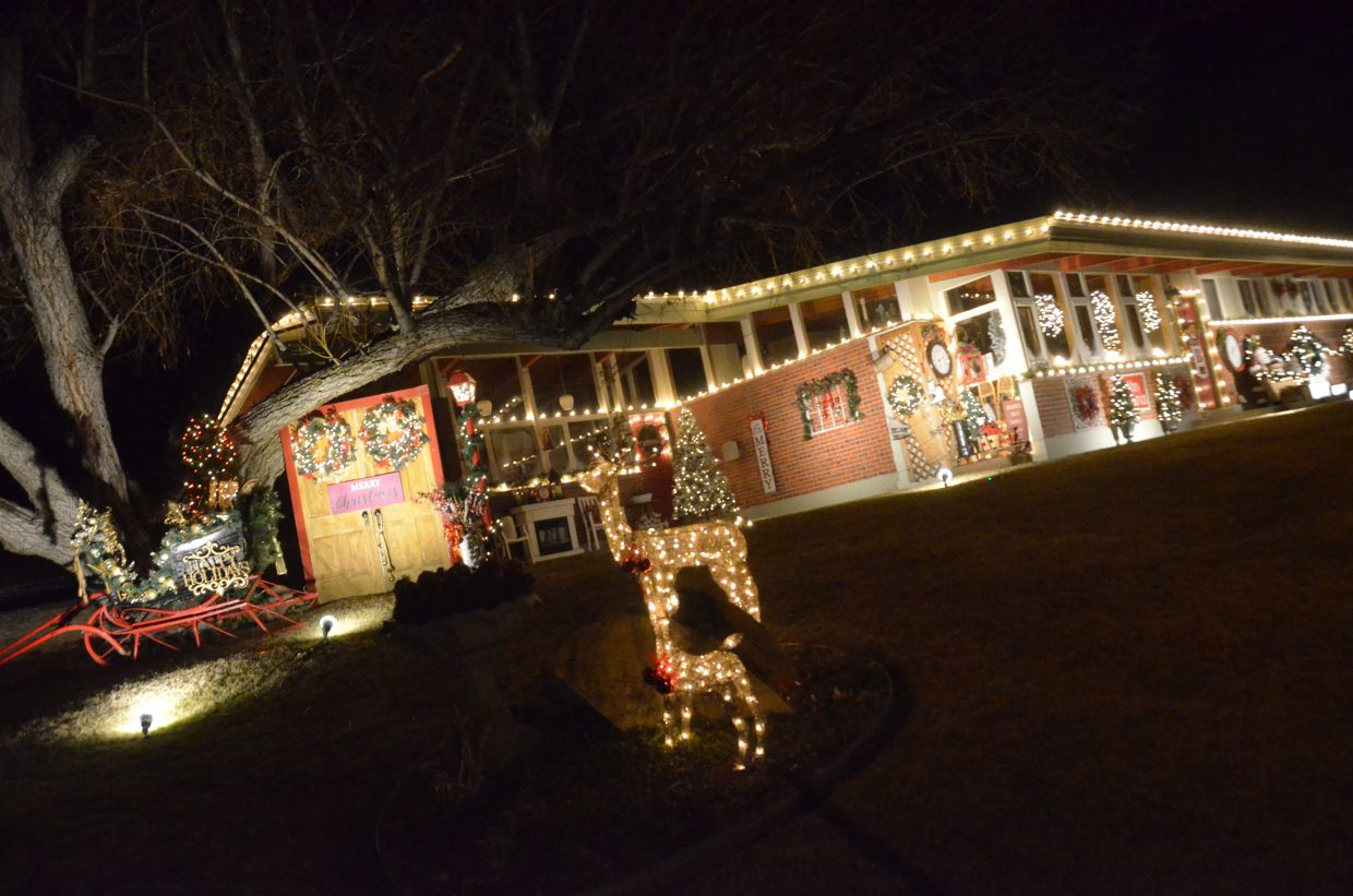 The Bird home at 635 E. Ninth St. in the 2018 Holiday Tour of Lights.