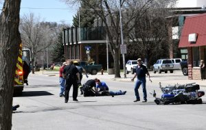 Updated: Motorcyclists seriously injured in downtown Craig