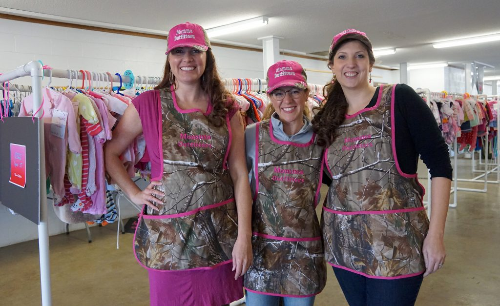 Momma Outfitters organizers, from left,  Jessie Wenning,Rachel Fleming, and Amanda Rizzuto are excited about the response to the first-time event.