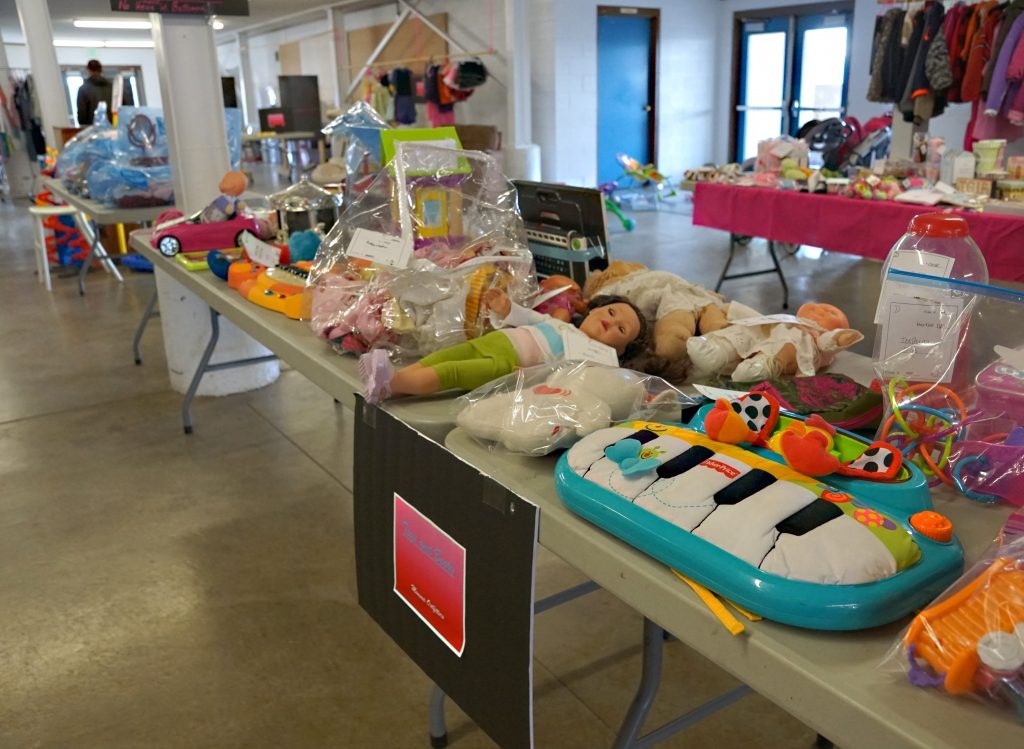 Large, new or like new toys and clothing proved popular with many selling fast.