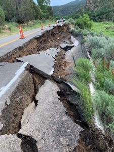 Highway embankment collapses near Rifle