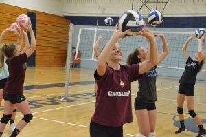 Moffat County volleyball players hone skills at home camp